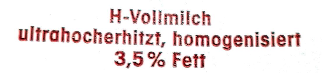 H-Vollmilch - Inhaltsstoffe - de