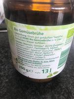 Rewe Bio Gemüsebrühe - Ingrédients - de