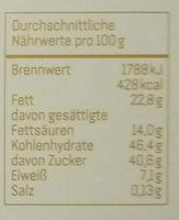 Belgisches Schokoladensoufflé - Nährwertangaben
