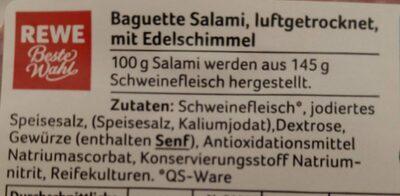 Baguette Salami - Ingredients - de