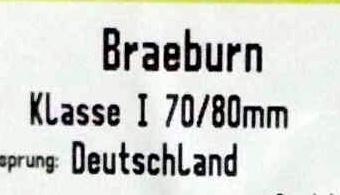 Braeburn Klasse I 70/80 mm - Inhaltsstoffe