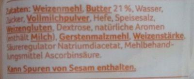 Buttercroissant - Ingrédients - de