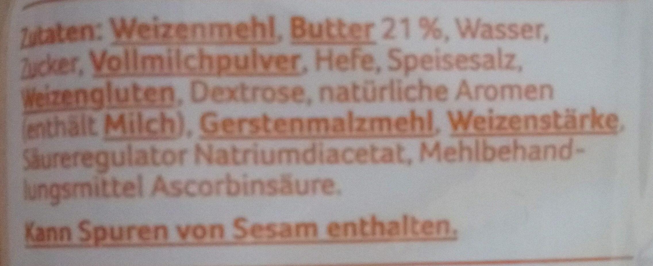 Buttercroissant - Ingrédients