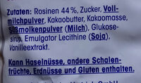 Schoko-rosinen - Ingredients - de