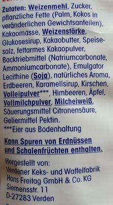 feine Gebäckmischung - Inhaltsstoffe