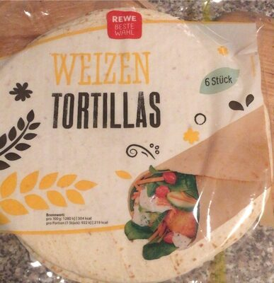 Weizen Tortillas - Prodotto - de