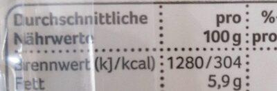 Tortilla Wraps,Weizen - Nährwertangaben - de