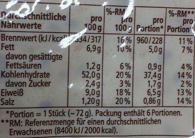 Tortilla Wraps,Mit Leinsamen - 12