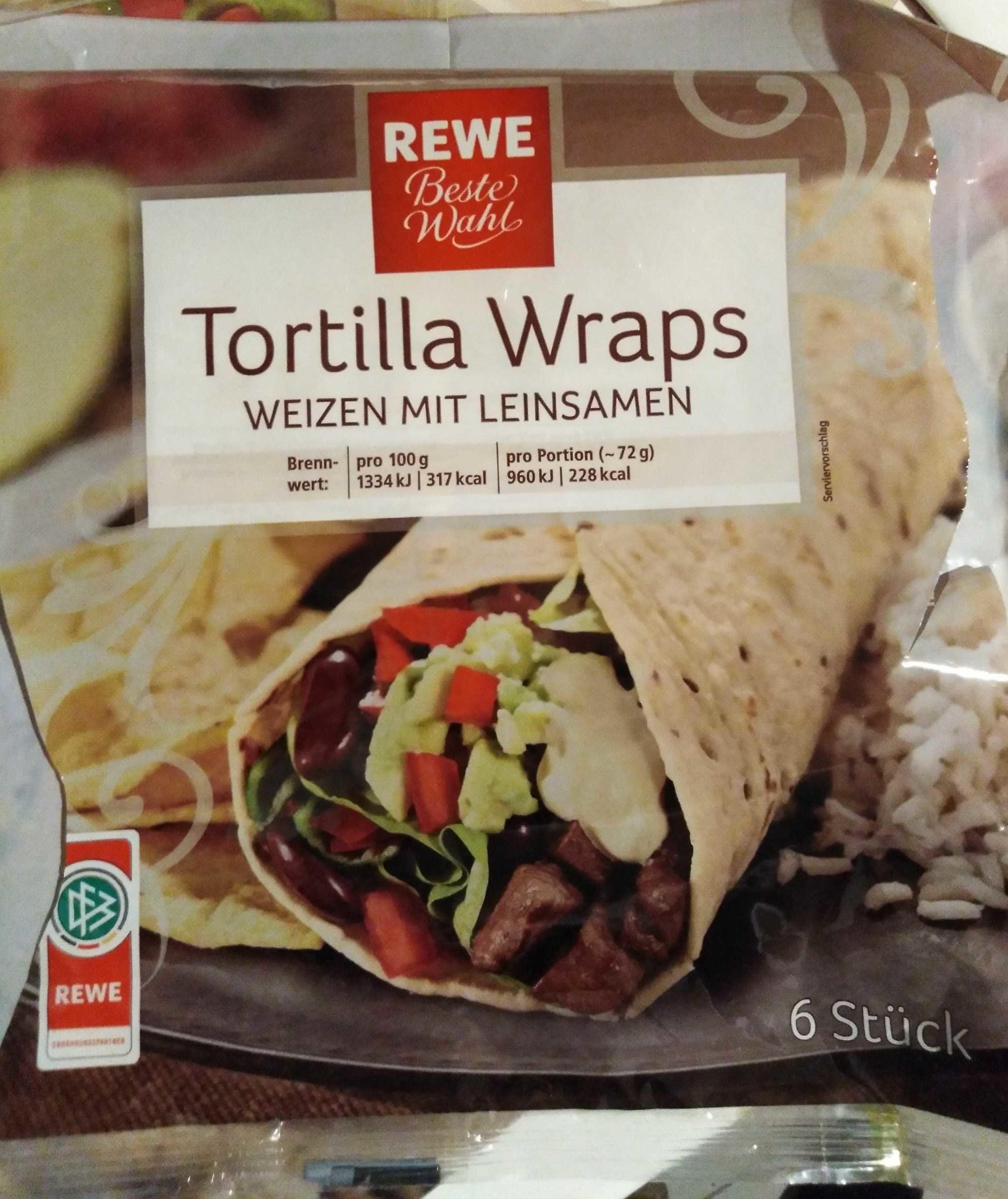 Tortilla Wraps,Mit Leinsamen - Product - en