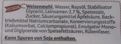Tortilla Wraps,Mit Leinsamen - Ingredienti - de