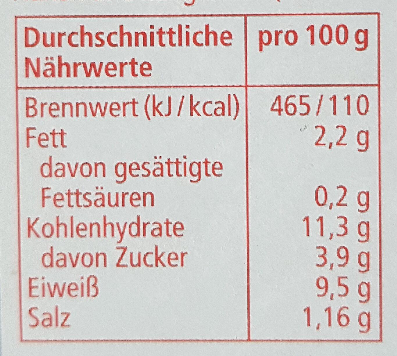 Thunfisch Salat American - Valori nutrizionali - de