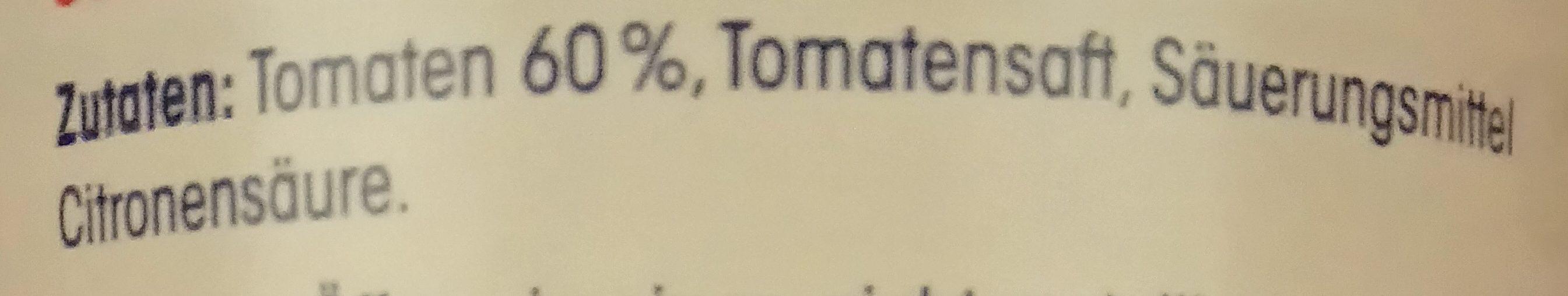 Fein gehackte Tomaten in Tomatensaft - Ingrédients - de