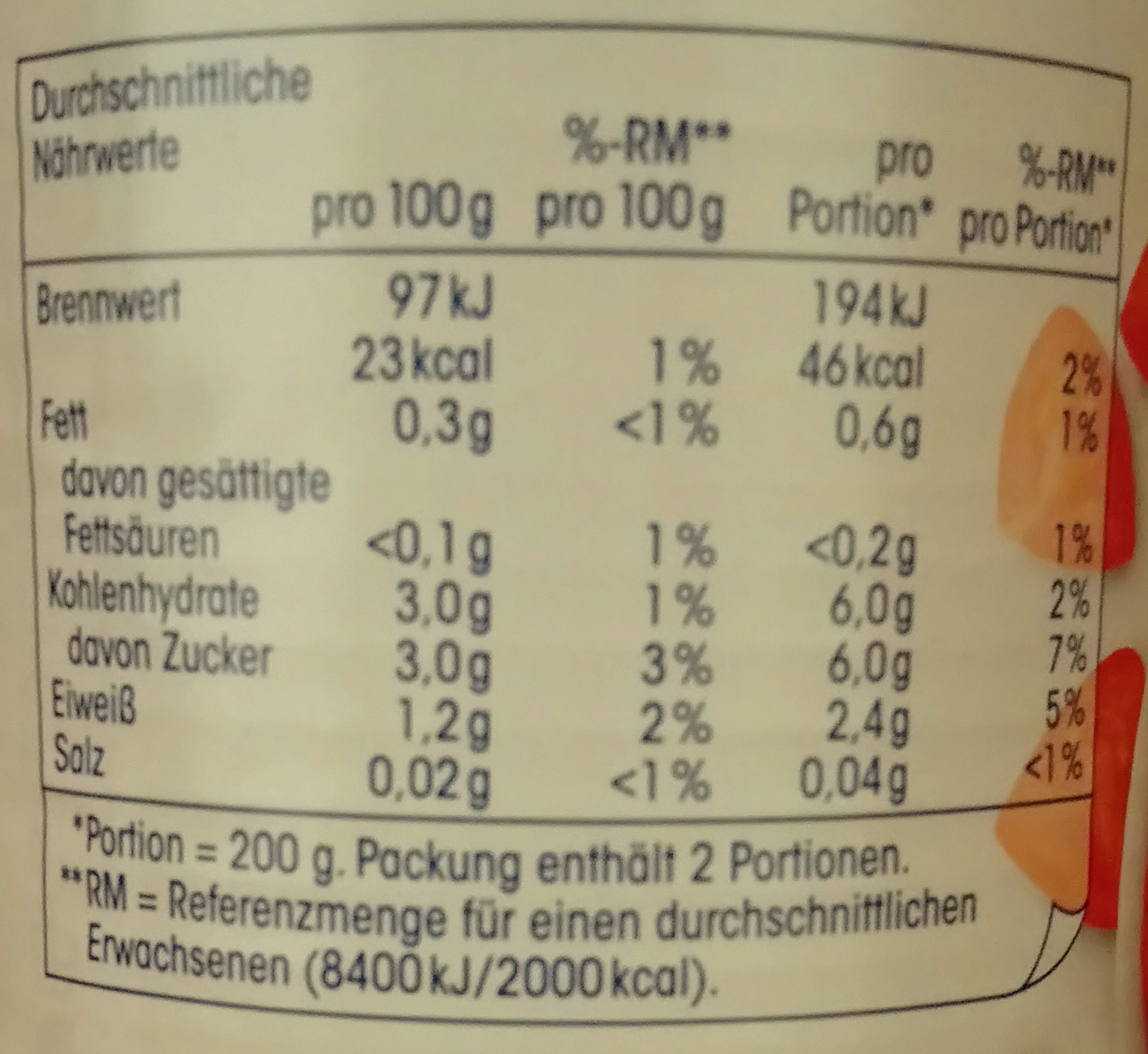 Fein gehackte Tomaten in Tomatensaft - Informations nutritionnelles - de