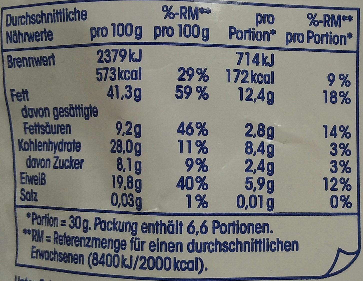 Cashew-Kerne naturell - Voedingswaarden - de