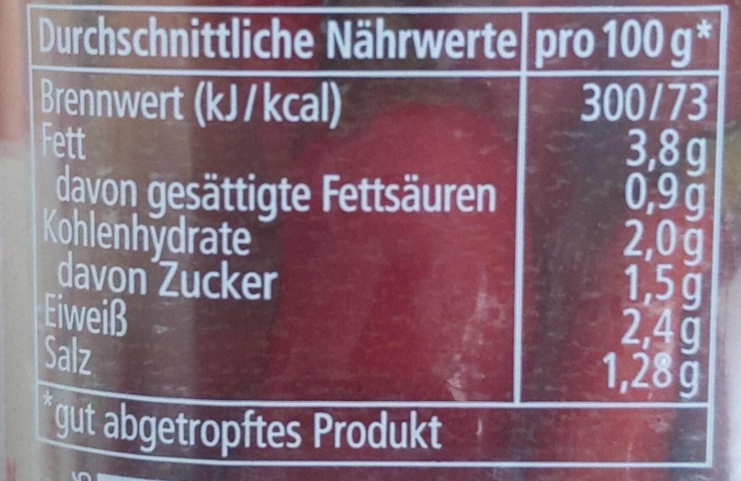 Peperino - Informations nutritionnelles - de