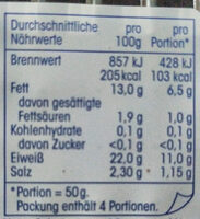 Räucherlach - Nutrition facts - en