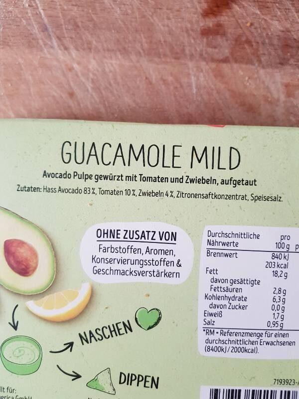 Guacamole - Ingrédients - es