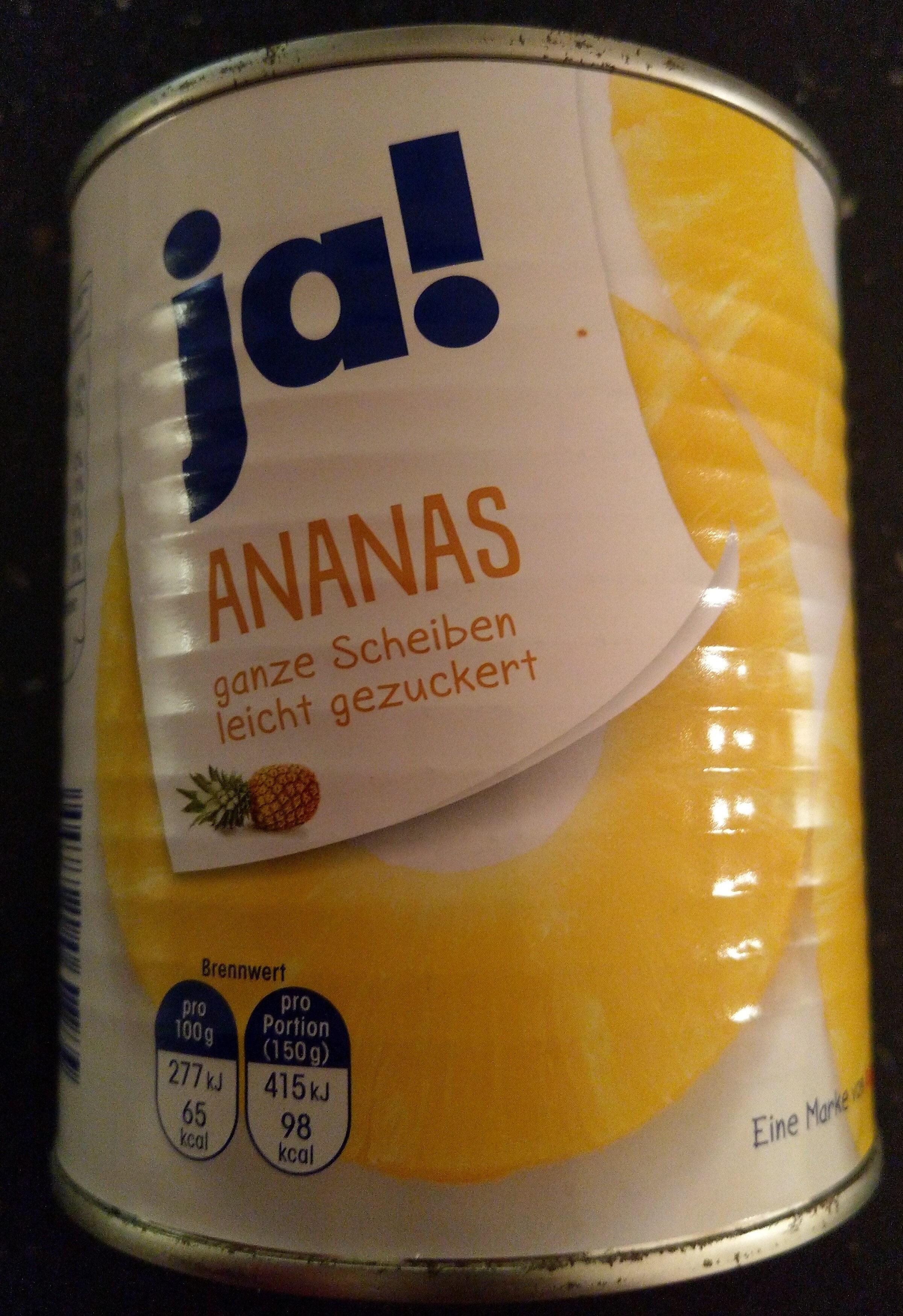 Ananas, ganze Scheiben leicht gezuckert - Produit - de