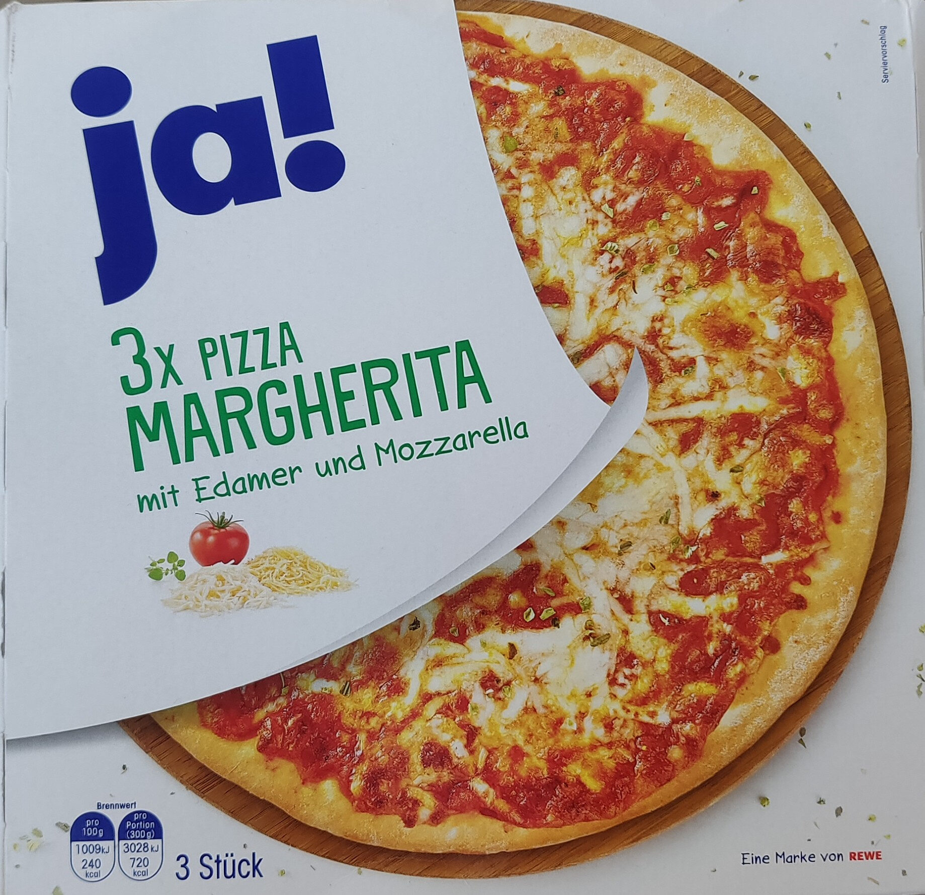 3x Pizza Margherita - Product - de