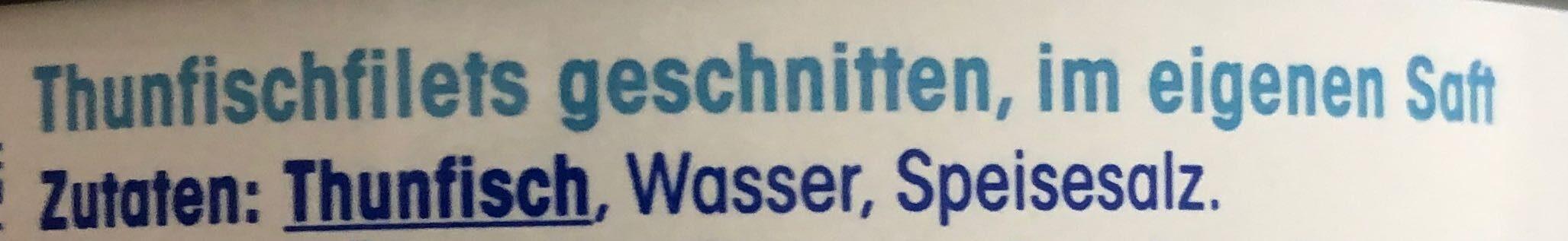 Thunfisch Filets im eigenen Saft - Zutaten - de