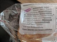 Burger Buns Brioche - Ingredients