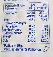 Lachsforelle mit Edelholzrauch - Nutrition facts - de