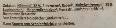 Dinkel Frischwaffeln - Ingrédients - de