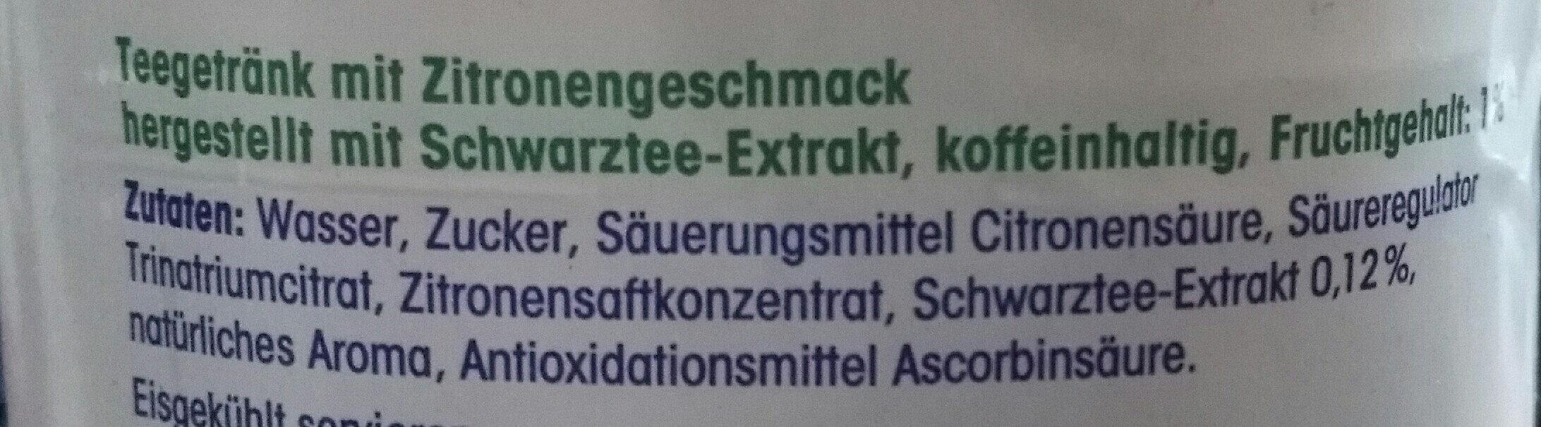Eistee Zitrone - Ingredients - de