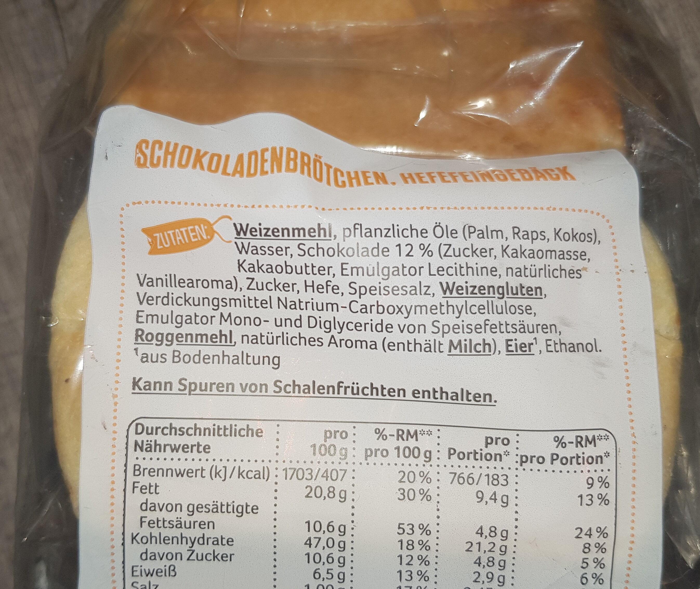 Schoko-Brötchen - Ingrediënten - de