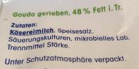 Geriebener Gouda - Ingrediënten - de