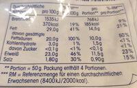Geriebener Gouda - Voedingswaarden - de