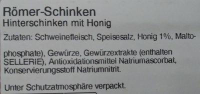 Römer-Schinken - Ingredients - de