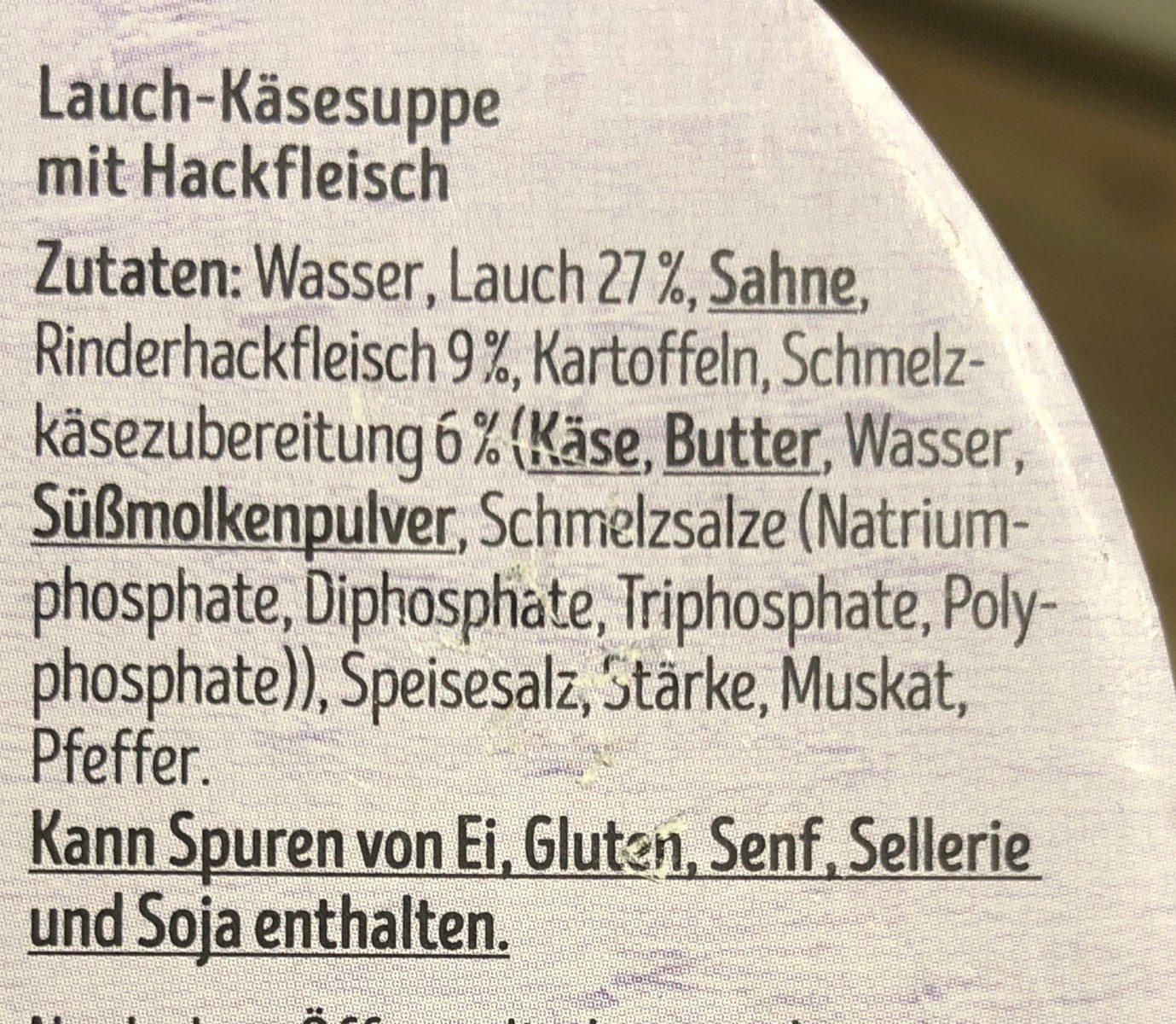 Lauch kase - Ingrédients - fr