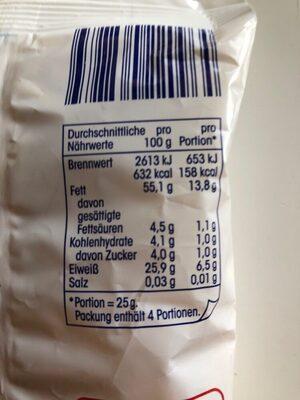 mandeln gestiftet - Nutrition facts - de