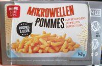 Pommes Frites für die Mikrowelle, vorgebacken und tiefgefroren - Produkt - de