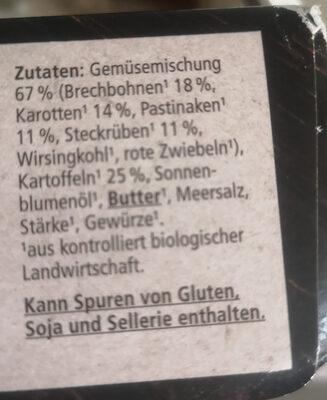 Gemüsepfanne mit Wurzelgemüse - Zutaten - de