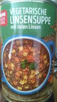 Vegetarische Linsensuppe mit roten Linsen - Product - de