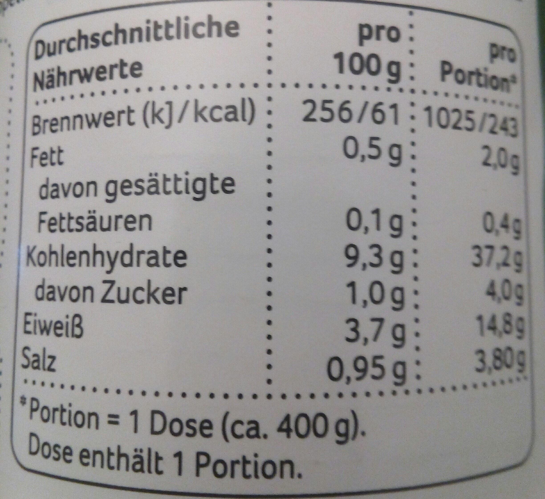 Vegetarische Linsensuppe mit roten Linsen - Voedingswaarden - de