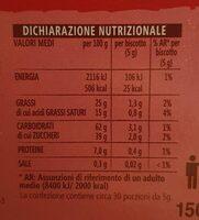 Choco Stics - Informations nutritionnelles - en