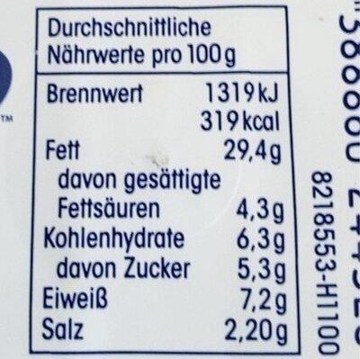 Feine Dill-Sahne-Heringsfilets - Nutrition facts - de