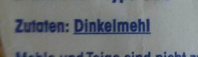 Dinkelmehl Type 630 - Ingredienti