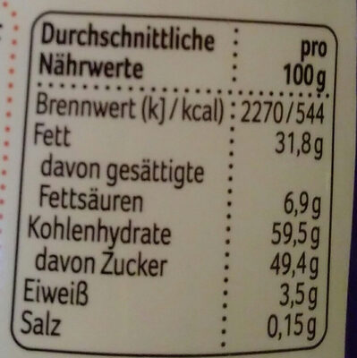 Maltinova - Nutrition facts - de