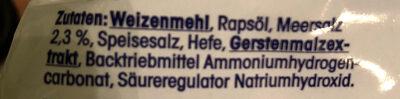 Salzstangen - Ingredients
