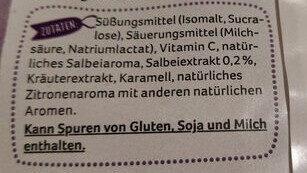 Salbei Bonbons (zuckerfrei) - Ingredienti - de