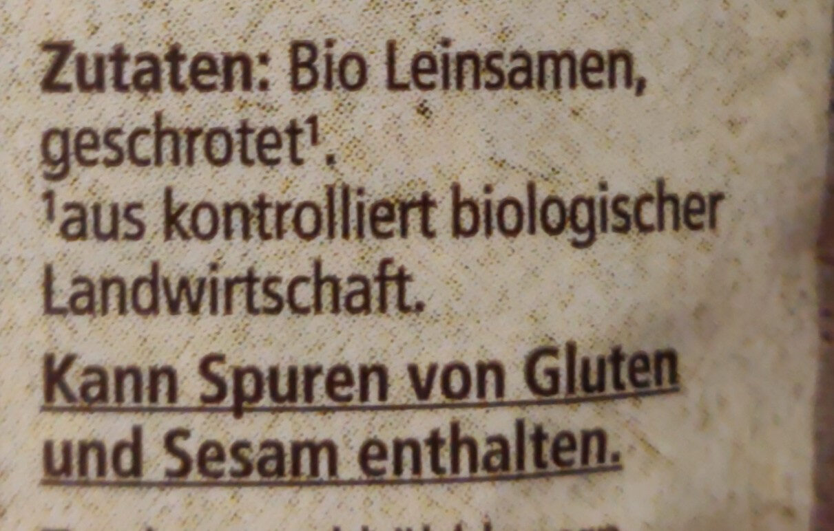 Leinsamen geschrotet - Ingredients - de