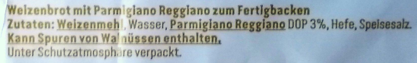 Ciabatta mit Parmigiano Reggiano - Ingredients - de