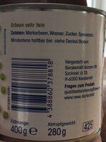 Erbsen sehr fein - Ingredients - de
