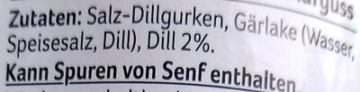 Salz-Dill-Gurken - Zutaten