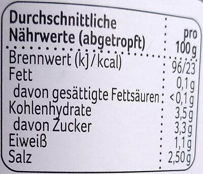 Salz-Dill-Gurken - Nährwertangaben - de