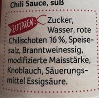 Sweet Chilli Sauce - Zutaten - de